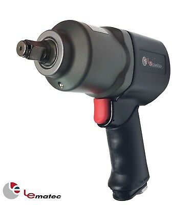 1/2 inch Air Impact Wrench 660 ft/lbs LEMATEC Pneumatic Tools Heavy Duty Made