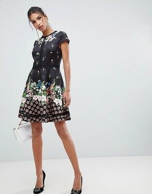 6f9612b053907 TED BAKER VALEREY Painted Posie Skater Dress (size 2  US 6 ...