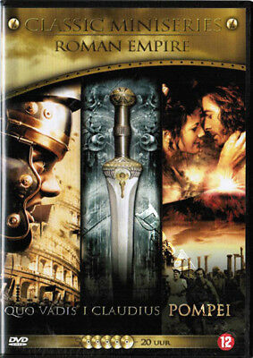 Roman Empire (3 Classic Mini-Series) NEW PAL Cult Arthouse 5-DVD Set Italy