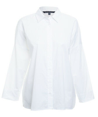 AS NEW SPORTSCRAFT White Cotton Blouse Van Oversized Relaxed Fit Shirt XS / S