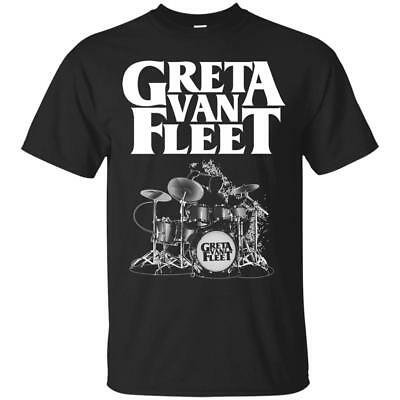 Greta Van Fleet Drum T-Shirt Black Full Size S-3XL for Greta Van Flee Fan