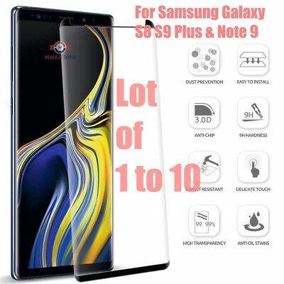 Case Friendly Tempered Glass Screen Protector Samsung Note 9 S9 / S8 Plus Lot HD