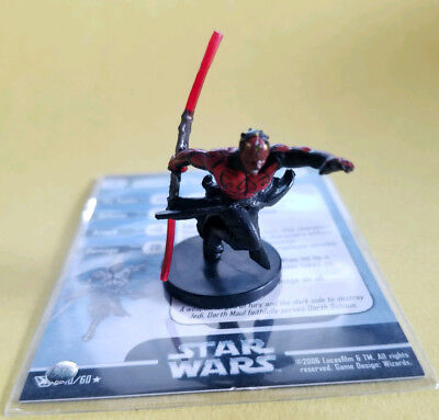 Star Wars Miniatures Champions of the Force Darth Maul 40/60 Sith w/ Card!!