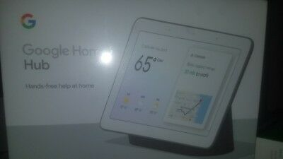 Google Home Hub with Google Assistant Charcoal Hey Google New!!