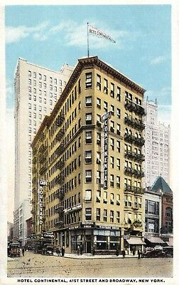 Vintage Postcard Of Hotel Continental In New York City, New York Long Ago