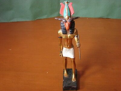 12 inch Statue of Egyptian God Khnum by Artisans Guild International Gold