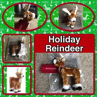 Authentic American Girl Plush Holiday Reindeer, BNIP, Fast FREE Shipping
