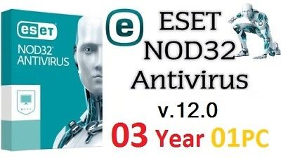 ESET NOD32 Antivirus v.12  Product Key | 3 YEARS | 1 PC | NOD 32 | Online.