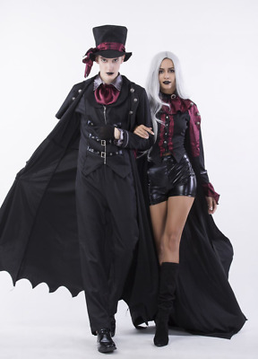 18267f0f7d6 VAMPIRE MENS HALLOWEEN Fancy Dress Count Dracula Gothic Adult Costume  Outfit New