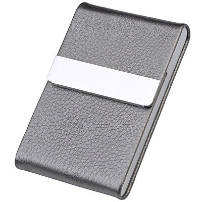 Vogue Stainless Steel Pocket Business Name Credit ID Card Case Box Holder GreyFS