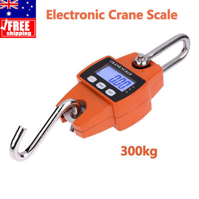 Portable Mini Industrial Electronic LCD Digital Crane Hanging Scale 300kg Yellow