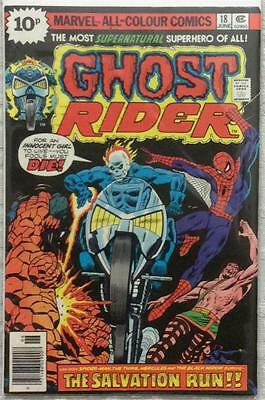 Ghost Rider #18 (Marvel 1976) FN+ condition. Bag & board