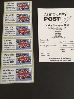 GB Post and GO Collector Set Guernsey Union Flag Overprint Stampex 2015 No MA