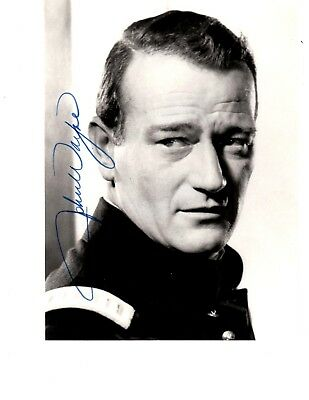 John Wayne - 8x10 Hand Signed Vintage Photo