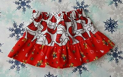 NEW GIRLS CHRISTMAS FRILLY SKIRT. 9 to 18 MONTHS. GINGERBREAD MEN. XMAS JUMPERS.