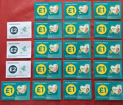 Pampers Coupons worth £22