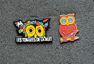 Lot 2 Pin's  Chouette - RENNES,  An Owl