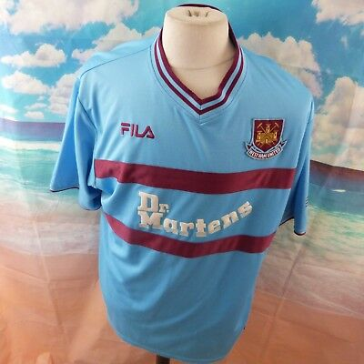 "West Ham United 2001 Fila Away Football Shirt. 23"" pit-to-pit, 30"" length, XL"