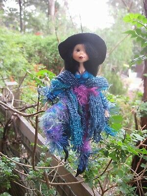 Black Kitchen Witch-2  - Hand made By Conny