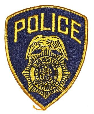 EVANSTON WYOMING WY Police Sheriff Patch CITY SEAL EAGLE SHIELD ~