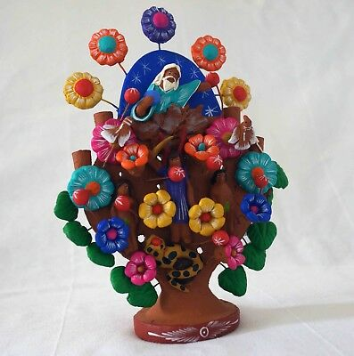 Mexican handcraft - clay TREE OF LIFE sculpture