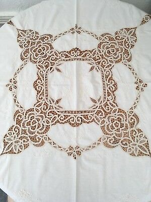 Fancy Vintage Embroidered Table Cloth
