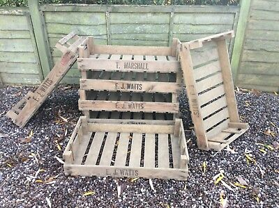 Vintage Antique Rustic Wooden Farm Tray Apple Crate Potato Chitting  Box