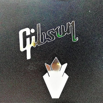 Gibson Guitar Headstock Crown OEM, 0.2% SILVER ORE/LEAF, Decal Sticker, EZ STICK