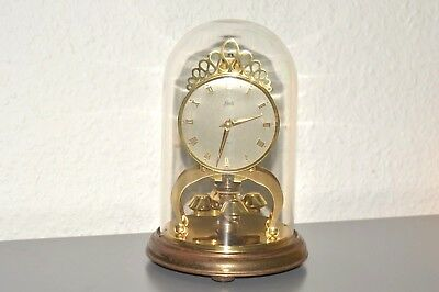 SCHATZ 400 day anniversary glass dome clock. Made in Germany. Working order.