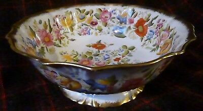 Large Hammersley H/p Queen Anne Footed Bone China Fruit/serving Bowl 1912-39.