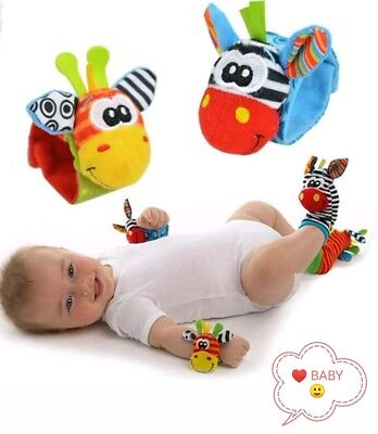From 0-24 Months Old Baby Socks And Wrist Band With Rattle Sounds&Multi Colors
