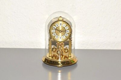 KERN 400 day anniversary glass dome clock. Made in Germany. Brass. Running