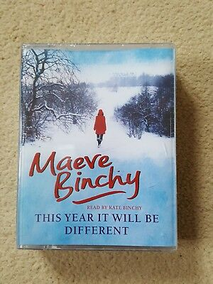 Maeve Binchy This Year it Will be Different 4-Tape Audio Book Reader Kate Binchy