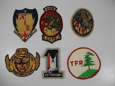 c44/ Vintage WW2 / Korea/ Vietnam/ USAF/ Army/ Patches/ Lot of 6pcs