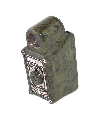 Excellent Coronet midget camera, green marbleised finish
