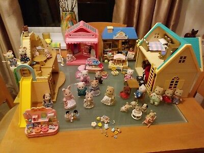 Huge Sylvanian Families Bundle, Lovely Clean Condition In Storage Box