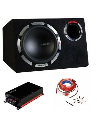 "Vibe PULSE CBR 12"" 900 watt Sub Subwoofer Bass Pack with Mono Amplifier Amp Kit"