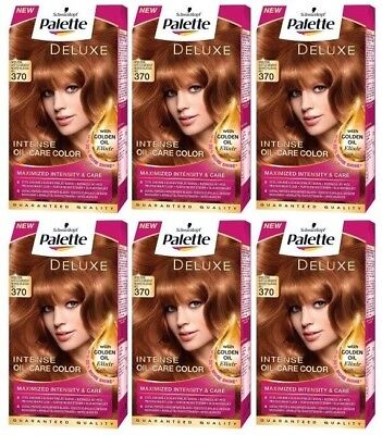 BULKBUY 6x SCHWARZKOPF Palette Deluxe 370 Light Copper Permanent Hair Dye Colour