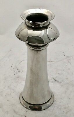 extremely rare liberty & co tudric art nouveau pewter vase C F A Voysey hearts