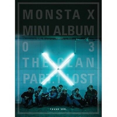 KPOP [Monsta X] The Clan Part.1 Lost Found Ver. CD+Poster+PhotoBook+M.Book+Card