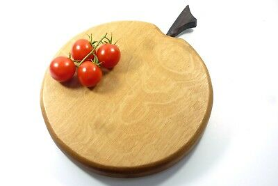 Handmade Apple Shape English Oak Wood Chopping Board Tommy Woodpecker Woodworks