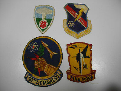 c50/ Vintage WW2 / Korea/ Vietnam/ USAF/ Army/ Patches/ Lot of 4 pcs.