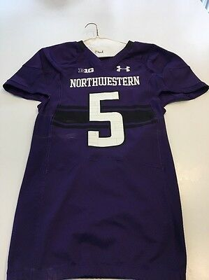 c5c281a4f Game Worn Used Northwestern Wildcats Football Jersey  5 Size 42 Shuler