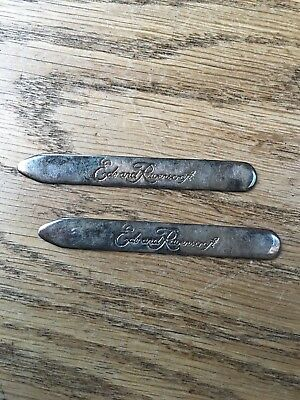Rare Vintage Ede & Ravenscroft Collar Stiffeners - Solid Silver - Beautiful Gift