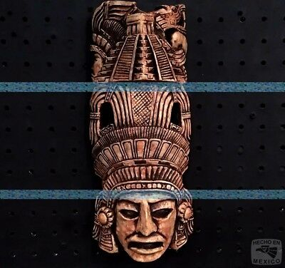 Maya Mask Head Aztec Plaque Mayan Sculpture Statue Pre-Columbian Calendar Art