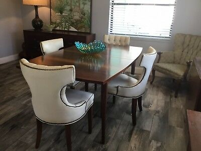 Vintage MCM Broyhill Brasilia Dining Table Mid Century Danish Modern Tiger Wood