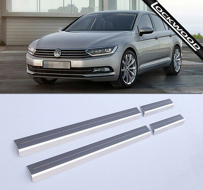 VW Passat B8 (Released 2015) Stainless Steel Sill Protectors / Kick Plates