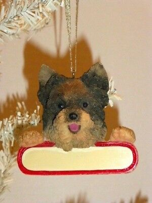 Cairn Terrier Finely Detailed, Hand Painted Resin Ornament, Personalize It !
