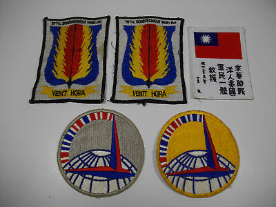 c51/ Vintage WW2 / Korea/ Vietnam/ USAF/ Army/ Patches/ Lot of 5pcs.
