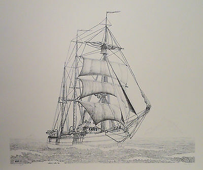 Historical Nautical Seascape Print Alaska US Coast Guard Cutter Bear by Twain